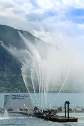 Tages-Wassershow beim Zeller See [10 Tage Roadtrip Salzburg]