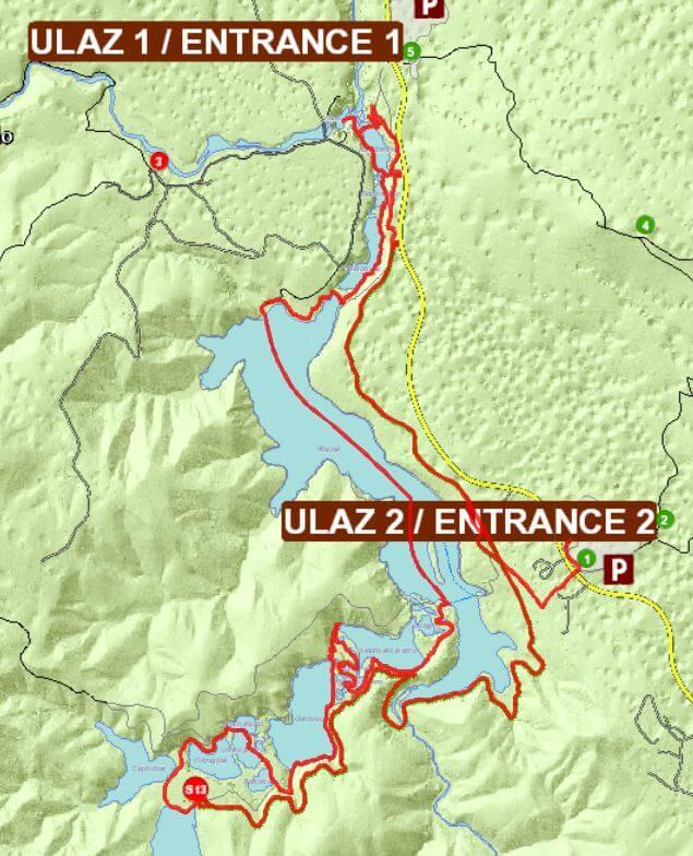 ScreenShot vom Wanderweg Programm H im Nationalpark Plitvička Jezera - Kroatien