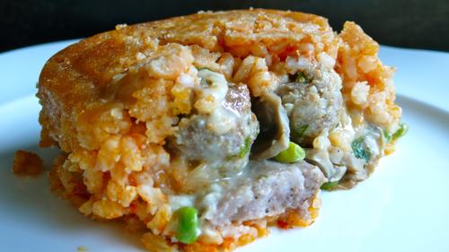 the sartu rice timbale
