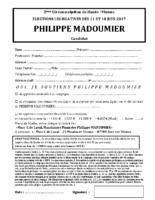 Soutien Philippe Madoumier