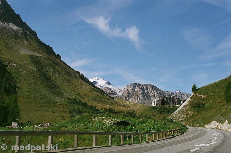 13 août 2011: Route vers Tignes et le glacier de la Grande Motte.