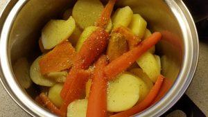 Kartoffelmos med gulerødder og søde kartoffel1