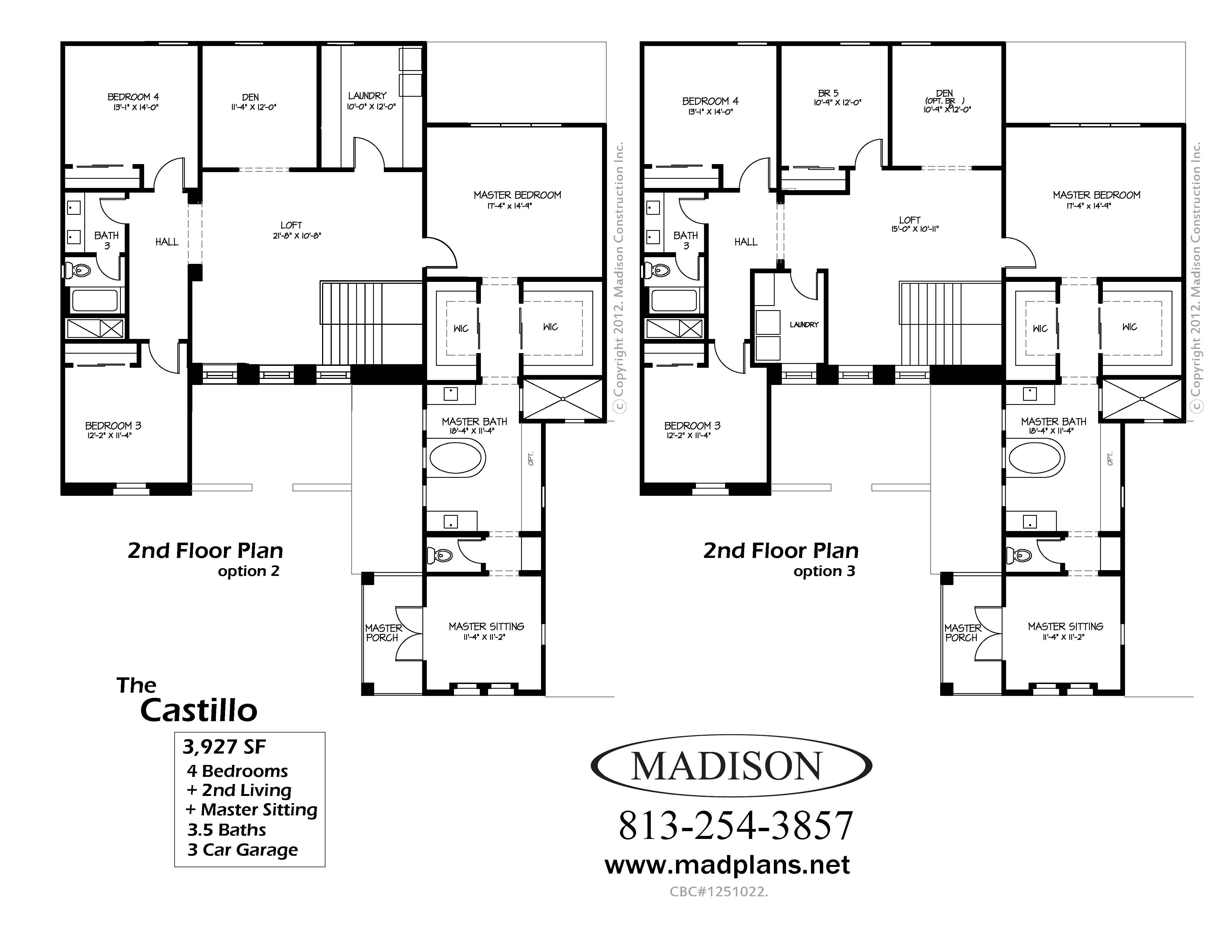 Madison Homes The Castillofloor Plans