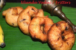 Ulunda vadai / Fritters