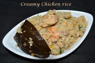 Creamy chicken rice