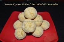 Roasted gram ladoo / Pottukadalai urundai