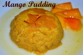 Steamed Mango Pudding