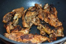 Chicken getting fried