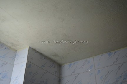 Dampness over the bathroom ceiling