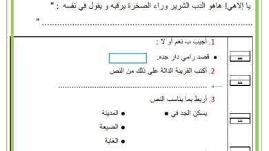 Photo of تقييم توجيهي في القراءة السنة الثانية