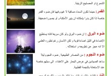 Photo of محور الضوء : مصادر الضوء الطبيعية – مصادر الضوء الاصطناعية ( 2)