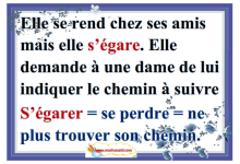 "Photo of "" vocabulaire le mot "" s'égarer"