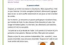 Photo of Le pauvre enfant –   Production écrite