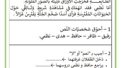Photo of تمارين دعم و علاج : مادة القراءة – حرف الضاد و الظاء – السنة الثانية