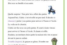 Photo of production écrite – les patins de Cédric