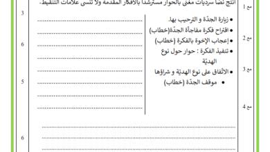 Photo of امتحان انتاج كتابي السنة 4 الثلاثي 2