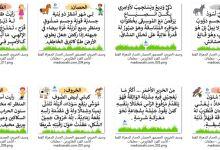 Photo of وصف الخروف و العصفور و الحصان و الحمار و المعزاة و القط و الأسد و القرد و الطاووس – معلقات