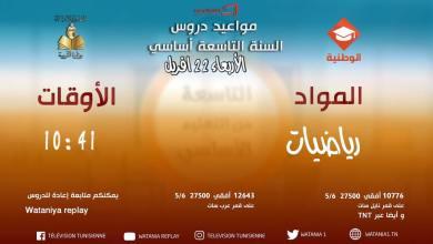 Photo of يتجدد الموعد اليومي معدروسجديدة📚📚 ضمنالوطنية التّربوية🎓🎓🎓يوم الأربعاء 22 أفريل بداية من الساعة العاشرة صباحا