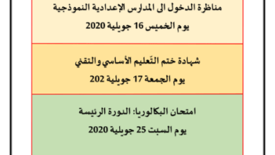 Photo of مواعيد الإعلان عن نتائج المناظرات والامتحانات الوطنية 2020