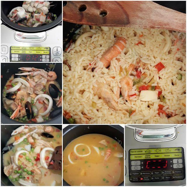 receta paella robot de cocina moulinex