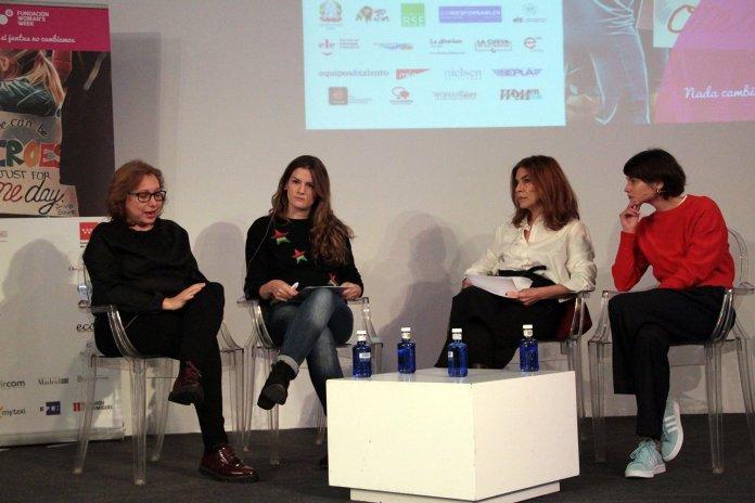 Las actrices María Casal y Alba Galocha , la periodista María Aller y Belén Bernuy, productora cinematográfica.