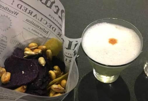 Cancha, chifle y papa violeta de aperitivo