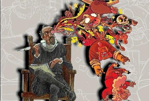 Miguel de Cervantes y El Retablo de las Maravillas se muestran en la Giralt Laporta narrados con el lenguaje de la imagen