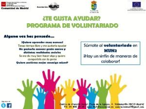 Cartel del programa de voluntariado de Valdemorillo.