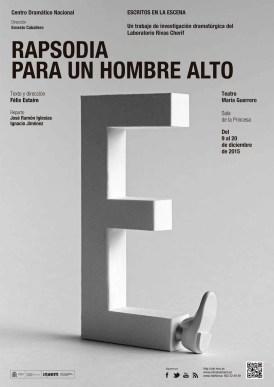 RAPSODIA PARA UN HOMBRE ALTO de Félix Estaire en el Teatro María Guerrero