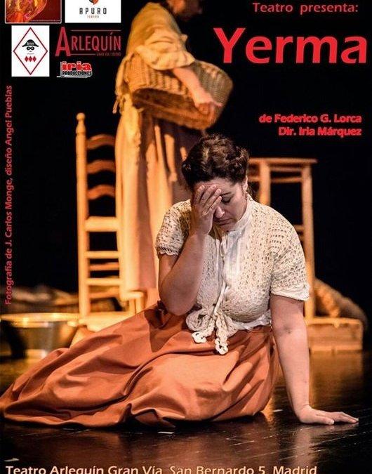 YERMA de Apuro Teatro en el Teatro Arlequín Gran Vía