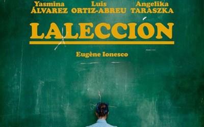 LA LECCIÓN de Ionesco en el Teatro Lara