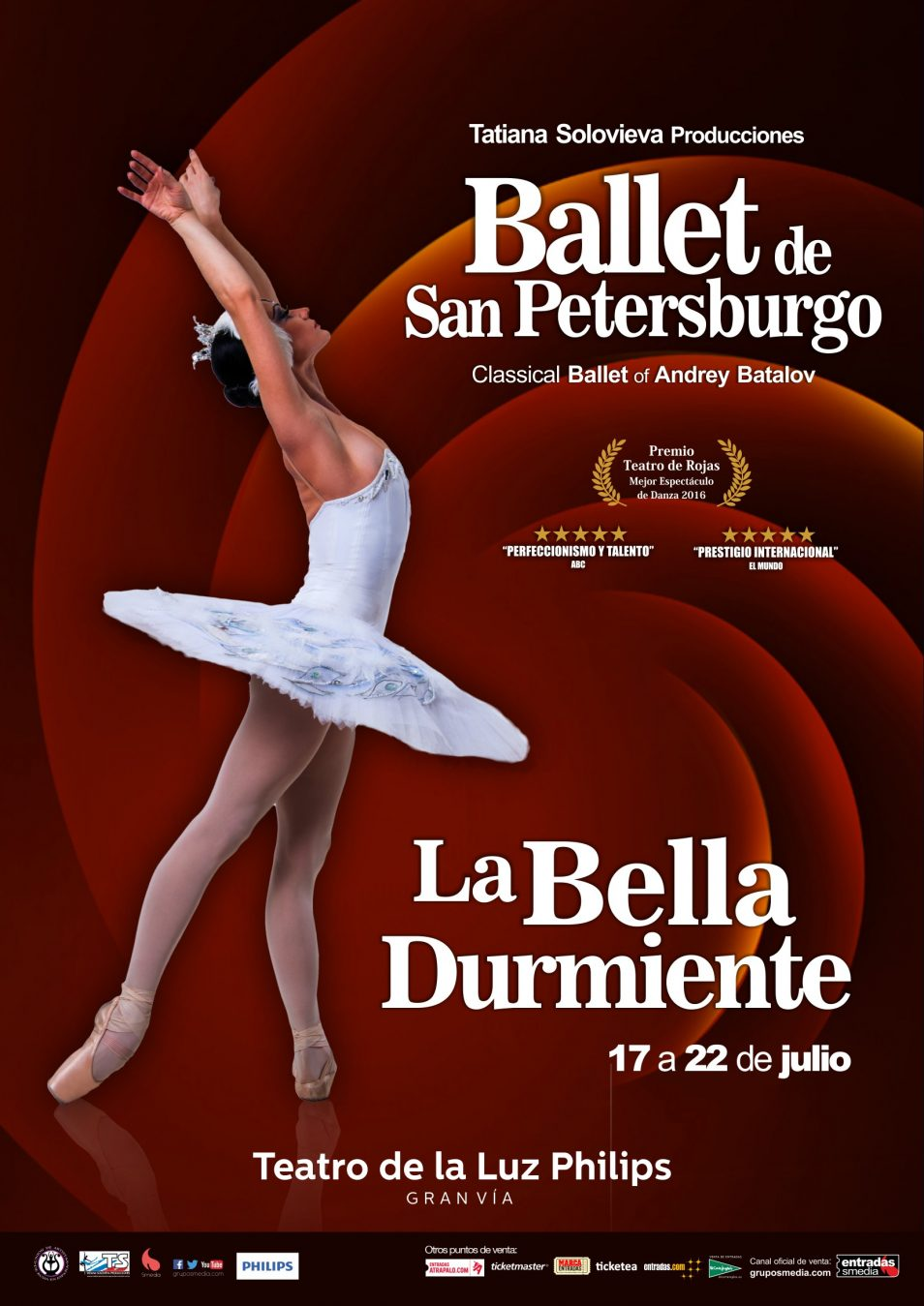 LA BELLA DURMIENTE (Ballet de San Petersburgo) en el Teatro de la Luz Philips