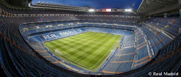 Panorámakép a Santiago Bernabéu stadionról