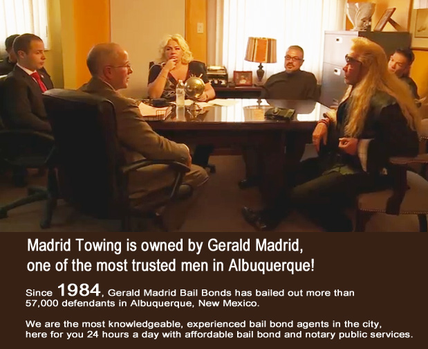 Gerald-Madrid-Towing-with-Dog-the-Bounty-Hunter Madrid Auto Wrecker Truck roadside assistance jump starts