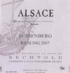 BECHTOLD SUSSENBERG RIESLING