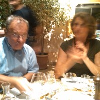 Hubert and Francoise Lignier at dinner (2011)