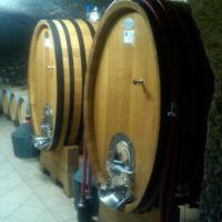 Lessona aging in barrels in Clerico's cellars