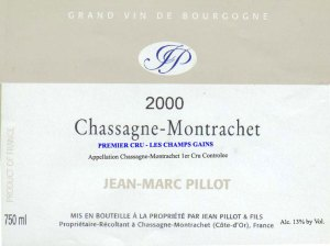 Pillot-Chassagne-Champs-Gains