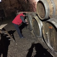 barrel tasting at Pecheur