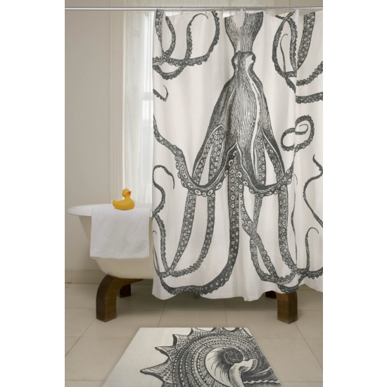 Give Your Bathroom A Maritime Makeover With The Thomas Paul Octopus Shower Curtain We Cant Take Our Eyes Off It