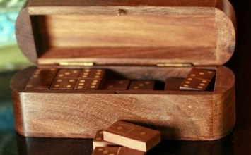 Giveaway | 'Strategies' Wood Box and Dominoes from Novica