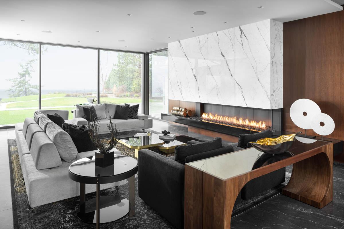 Madeleine Design Group Ocean Bluff Living Room