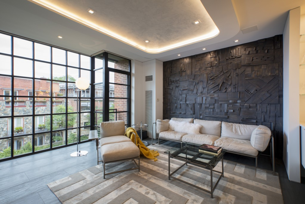 FORMA Design Lounge Area, Wood Wall