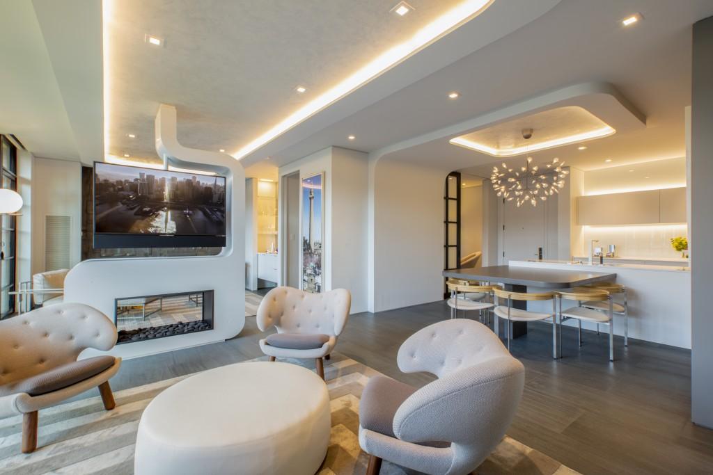 FORMA Design Living Area, Fireplace