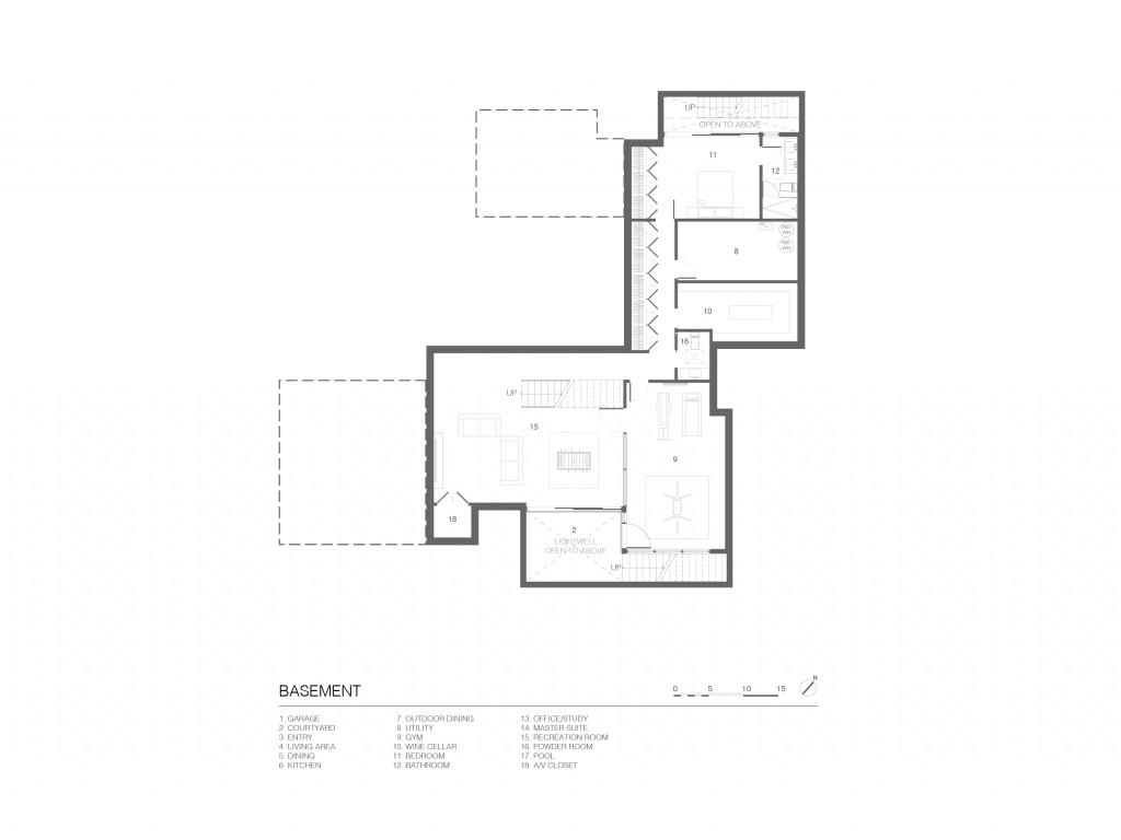 John Lum Architecture basement floorplan