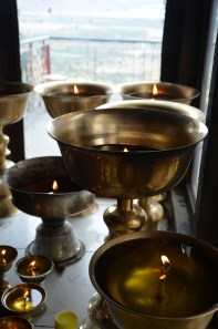 Tibetan lamps, like the one I bought in Leh!