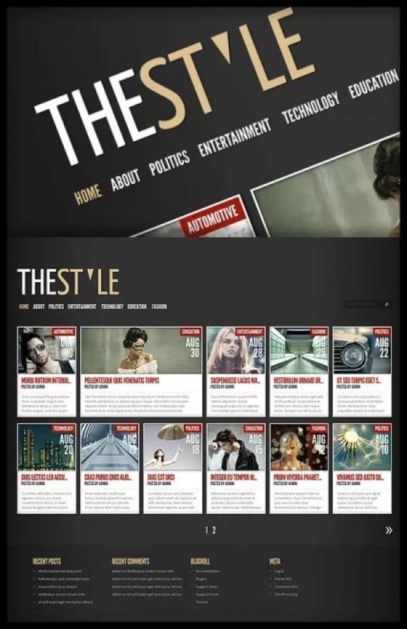 TheStyle Magazine WordPress Theme