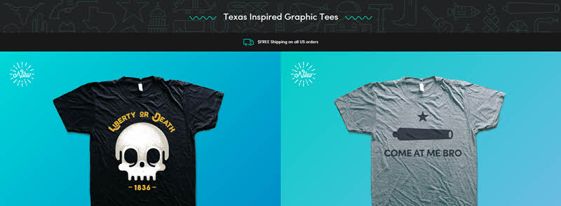 Texas Thread Graphic Tees