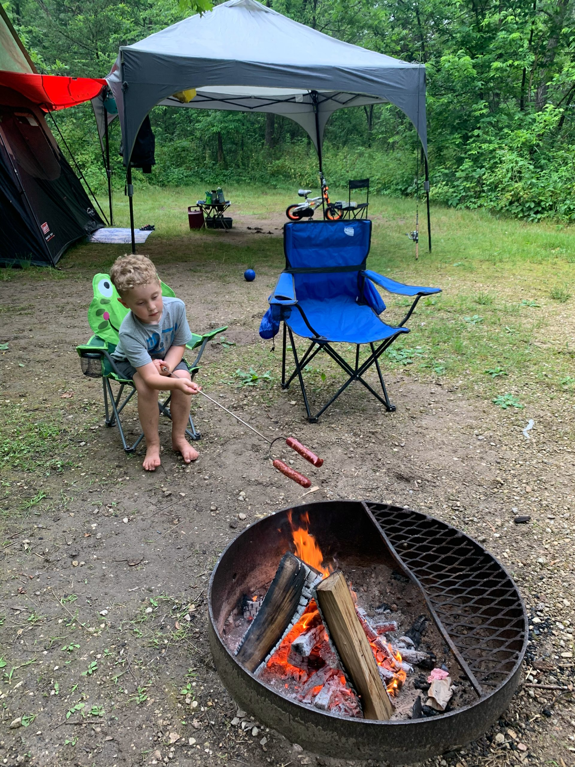 Campsite 61 at Perrot State Park