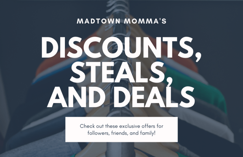 Discounts, Deals and Steals Promotional Image